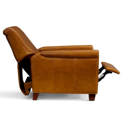 Irving Leather Recliner Chestnut Blueprint
