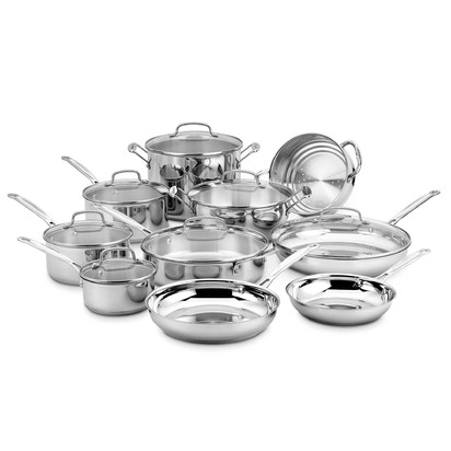 Cuisinart® Stainless Steel 17-Piece Cookware Set